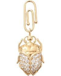 Aurelie Bidermann | Diamond Baby Beetle Charm | Lyst