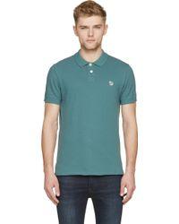 Paul Smith Green Zebra Patch Polo Shirt - Lyst