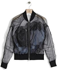 3.1 Phillip Lim | Gathered Bomber With Lace Inserts | Lyst