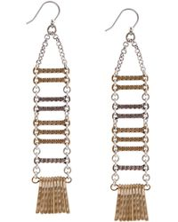 Lucky Brand - Hammered Metal Linear Drop Earrings - Lyst