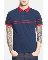 Gant Rugger Chest Stripe Jersey Polo - Lyst