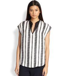 3.1 Phillip Lim Striped Silk Tunic Top - Lyst