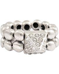 Philippe Audibert Elies Crystal Ring - Metallic