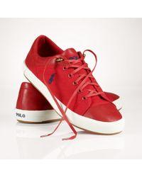 Polo Ralph Lauren Canvasleather Jerom Sneaker - Lyst