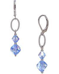 Dabby Reid 'lyla' Swarovski Crystal Mix Earrings - Light Sapphire - Blue