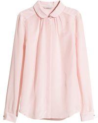 H&M Silk Blouse - Lyst