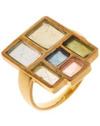 Pippa Small Tourmaline  Yellow-gold Ring - Lyst