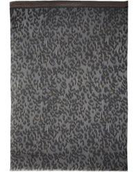 Lara Bohinc - Leopard Charcoal Printed Scarf - Lyst
