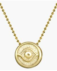 Alex Woo 'Little Faith' Evil Eye Pendant Necklace - Lyst