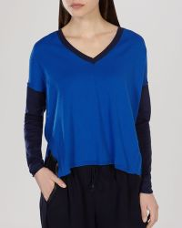 Karen Millen Sweater - Color Block blue - Lyst