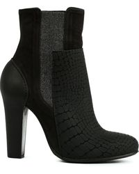 Vic Matie' Crocodile Embossed Effect Boots - Lyst