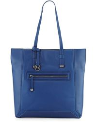 Halston Leather Northsouth Tote Bag - Lyst