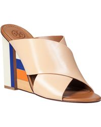 Tory Burch Color Cube Slide Sandal Sun Beige Leather - Lyst