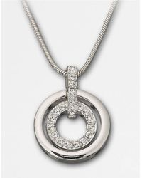 Swarovski Double-Ring Crystal Pendant Necklace - Lyst