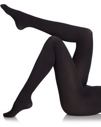 Saks Fifth Avenue Black Label - Ribbed Sweater Tights - Lyst