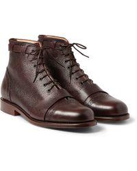 Grenson Foot The Coacher Pebblegrain Leather Boots - Lyst