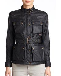 Belstaff Roadmaster Waxed Cotton Jacket - Black