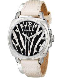 Coach Boyfriend Small 34mm Leather Strap Watch - Lyst