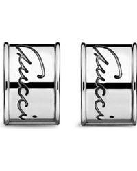 Gucci Flora Sterling Silver Stud Earrings - Lyst