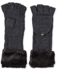 Ivanka Trump - Pop-Top Cable Knit Gloves - Lyst