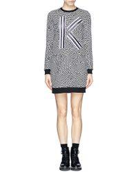Kenzo K Appliqué Sweatshirt Dress - Lyst