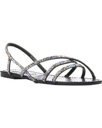 Steve Madden Strappy Diamanté Sandals - Lyst