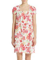 Lauren by Ralph Lauren Floral Print Cotton Nightgown - Lyst