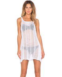 UNIF - Wren Sheer Cotton Dress - Lyst