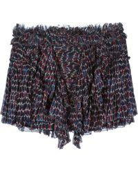 Isabel Marant 'Melissa' Draped Skirt blue - Lyst