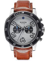 Nixon   'ranger Chrono Leather' Watch   Lyst