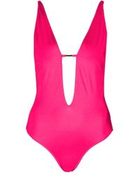 Topshop | Plunge One-piece Swimsuit | Lyst