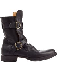 Fiorentini + Baker Leather Buckle Boots - Lyst