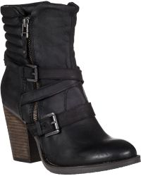 Steve Madden Raleighh Mid-Shaft Boot Black Leather black - Lyst
