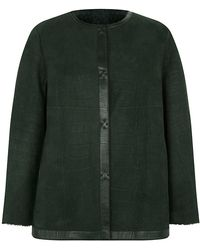 Giorgio Armani Croc Embossed Shearling Jacket - Lyst