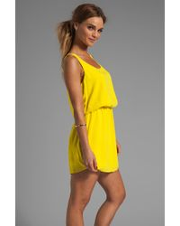 Splendid Tank Dress in Lemon - Lyst