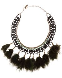 Etoile Isabel Marant Short Feather Necklace - Lyst