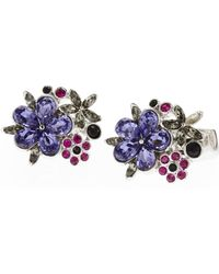 Duchamp | Multicolor Floral Cuff Links | Lyst