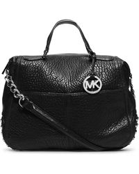 Michael by Michael Kors Large Shelley Studded Satchel - Lyst