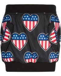 Love Moschino American Flag Fitted Skirt - Lyst