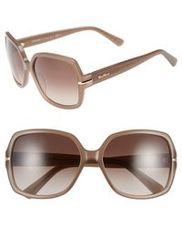 Max Mara Women'S 'Detail Ii' 59Mm Square Sunglasses - Opal/ Mud - Lyst