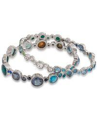 Carolee - Gems And Tonic Bubble Bangle Bracelet - Set Of 2 - Lyst