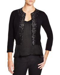 Magaschoni - Embellished Cropped Cardigan - Lyst
