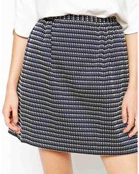 See By Chloé Stripe Mini Skirt - Lyst