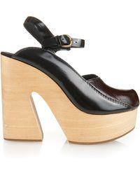 Rachel Comey Alton Leather Platform Sandals - Purple