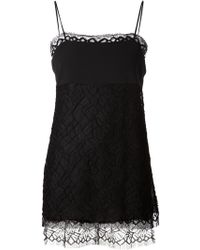 Adam Lippes Lace Detail Textured Top - Lyst