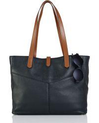 Lauren by Ralph Lauren Landrey Leather Simple Tote - Lyst