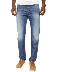 Diesel Buster Trousers 0839C blue - Lyst