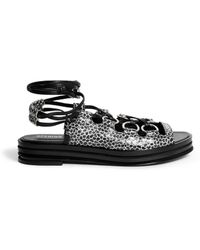 Opening Ceremony 'Kali' Multi Ring Lace-Up Flatform Sandals - Lyst