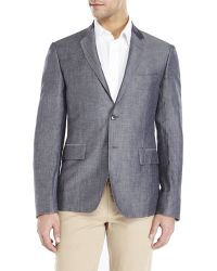 Verri - Grey Two-Button Wool Blend Sport Coat - Lyst