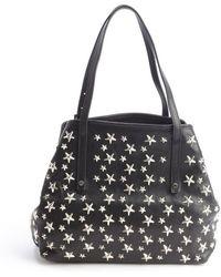 Jimmy Choo Black Leather Star Studded Small Sasha Bag - Lyst